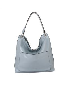 579 BLUE - Blue Front Pocket Shoulder Bag