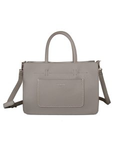 591 GREY - Grey Front Pocket Tote Bag