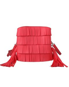 628 CORAL - Fringe Cross Body with Double Ended Tassel Detail
