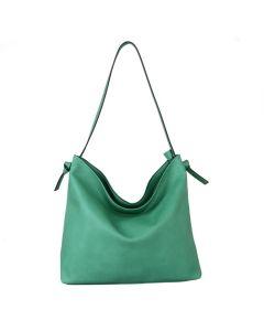 632 GREEN - Green Panel Effect Shopper