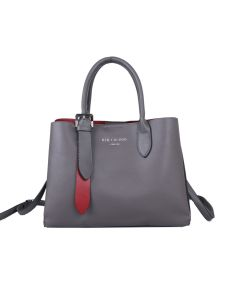 665 GREY- Multiway Silver Buckle Tote Bag