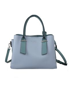 701 BLUE - Blue Tote with Contrast Handles