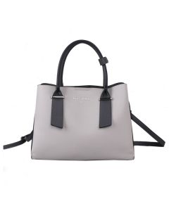 701 IVORY - Ivory Tote with Contrast Handles