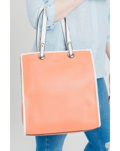 724 ORANGE - Orange Shopper with White Detail and Straps