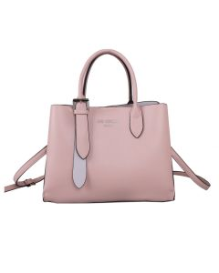 729 PINK - Pink Tote with Silver Buckle
