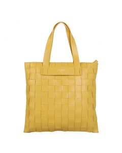 736 YELLOW - Yellow Weave Shoulder Bag