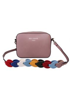 433 DUSKY PURPLE - Dusky Purple Multi Strap Cross Body