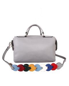 434 SILVER - Silver Multi Strap Bowling Bag