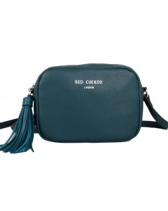 438 TEAL - Teal Tassel Cross Body Bag