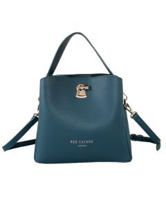 521 TEAL - Teal Grab Bag with Clasp Detail