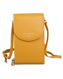 593 YELLOW - Yellow Cross Body Pouch
